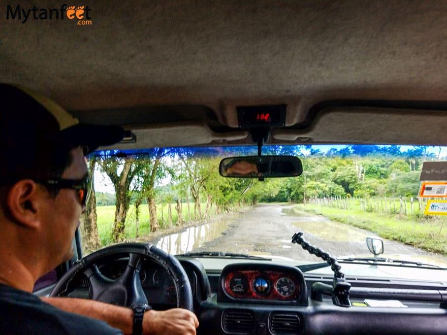 Driving to Osa Peninsula