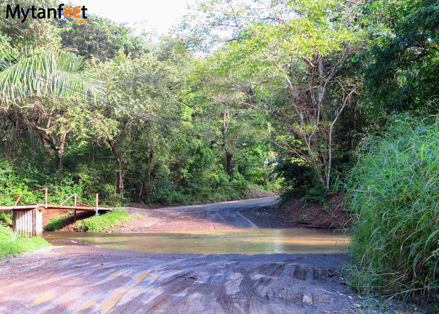 Road conditions in Costa Rica - Ostional wildlife refuge