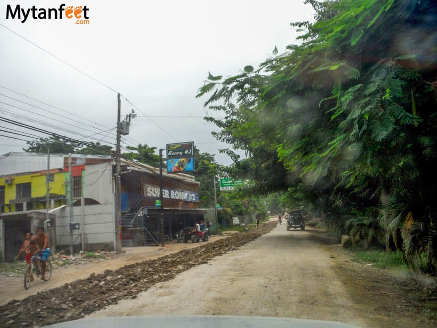 Road conditions in Costa Rica - santa teresa montezuma