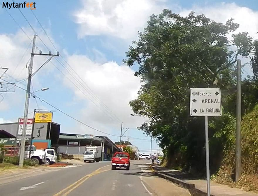 monteverde road conditions - from arenal