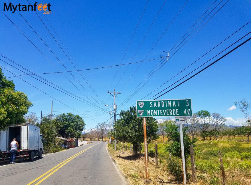 monteverde road conditions - sardinal turn