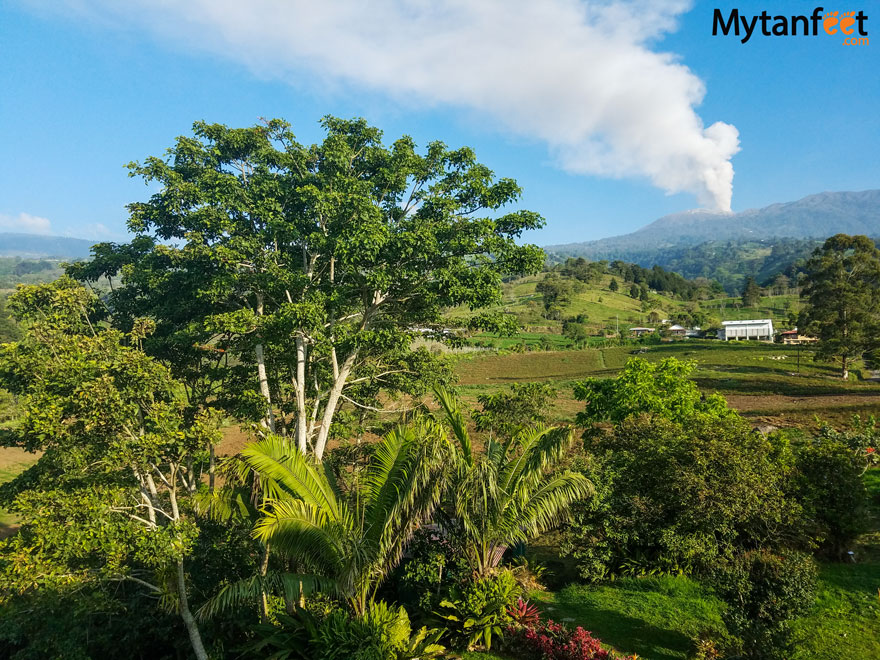 turrialba volcano view from guayabo lodge