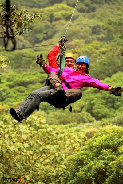 costa rica adventures - ziplining