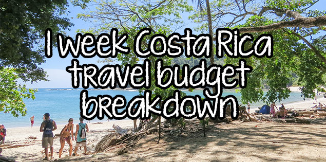 1 week Costa Rica budget guide