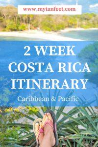 2 weeks in costa rica Itinerary - Coast to Coast