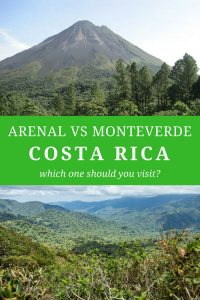 monteverde or arenal travel guide