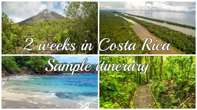 two weeks in costa rica itinerary featured