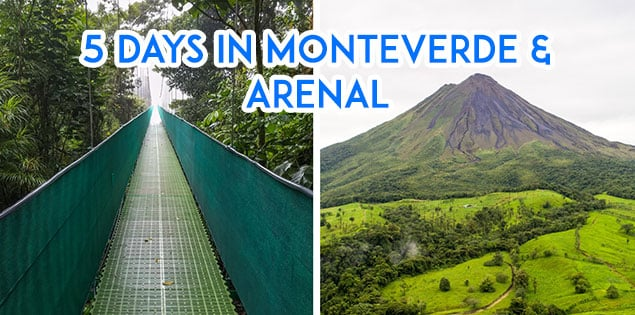 5 day Arenal and Monteverde Itinerary featured
