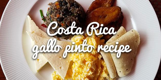 Costa Rican gallo pinto recipe featured