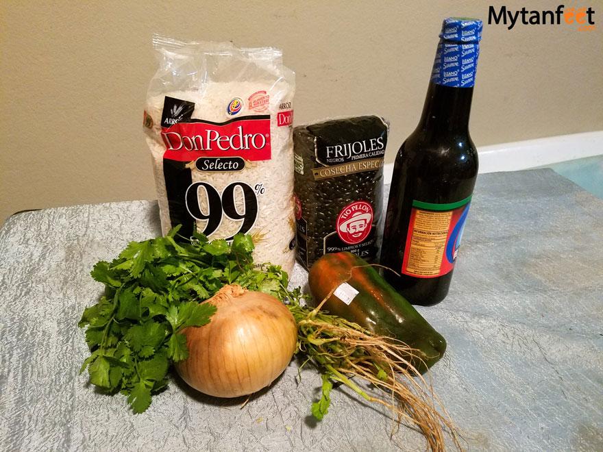 Costa Rican gallo pinto recipe - ingredients