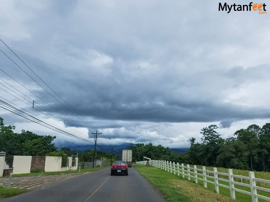 Driving from San Jose to La Fortuna