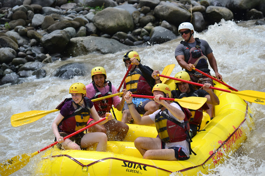 hiring a guide in Costa Rica - white water rafting