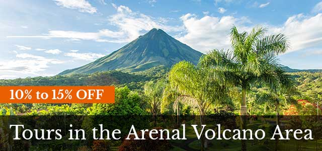 Costa Rica discounts: La Fortuna and Arenal tours discount