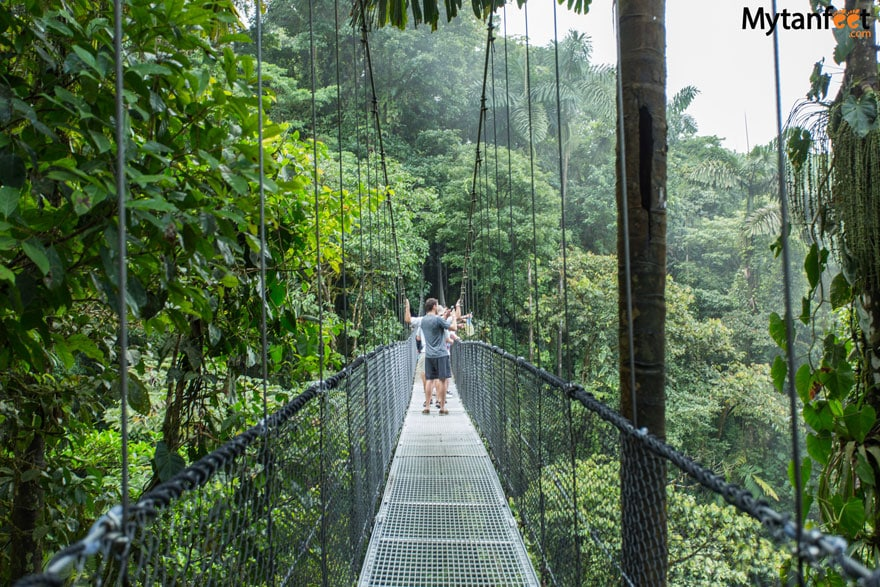 hikes in Costa Rica - Arenal Hanging Bridges