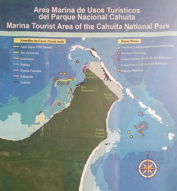 Cahuita Park Map