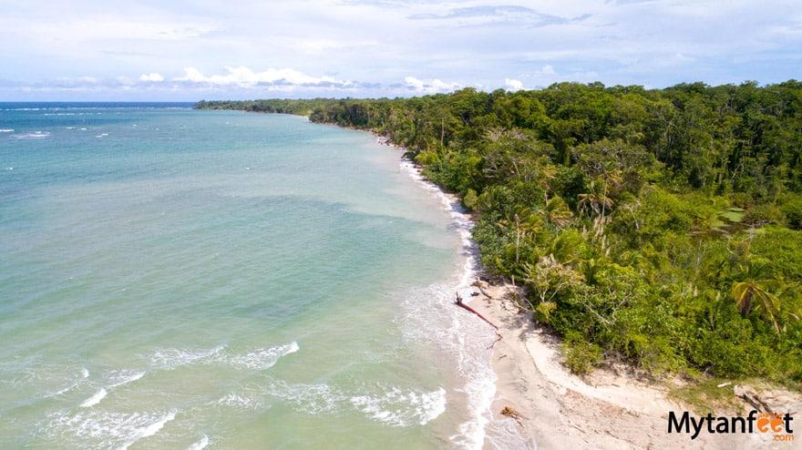 Aerial Photo beach at Cahuita NP