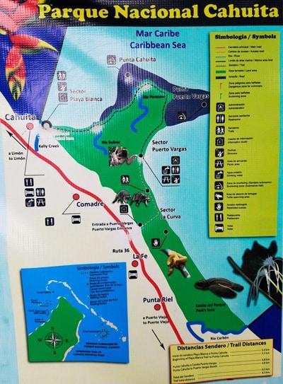 Cahuita Park Trail Map