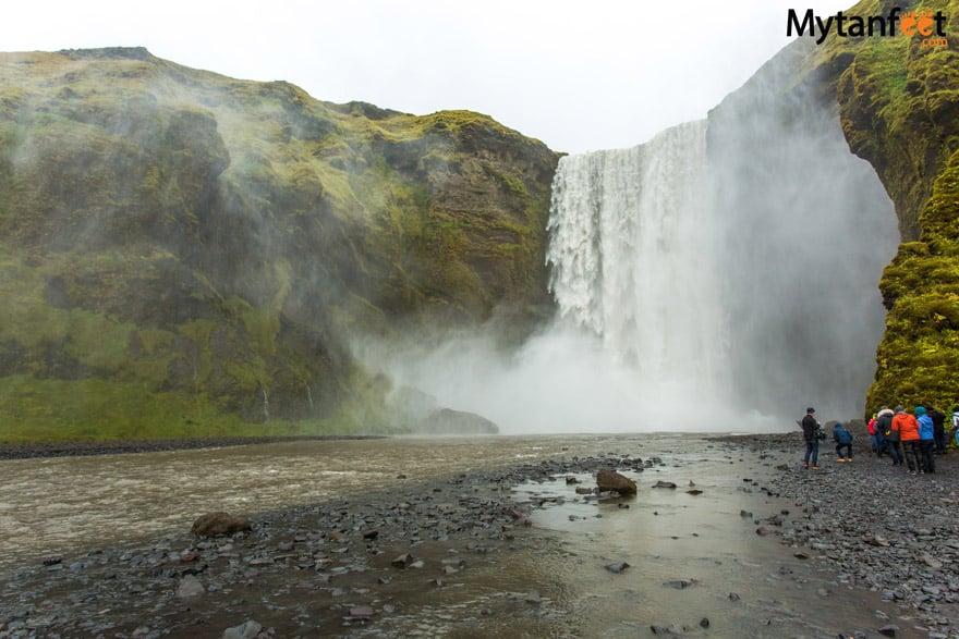 one week in Iceland by camper van - Skogafoss waterfall