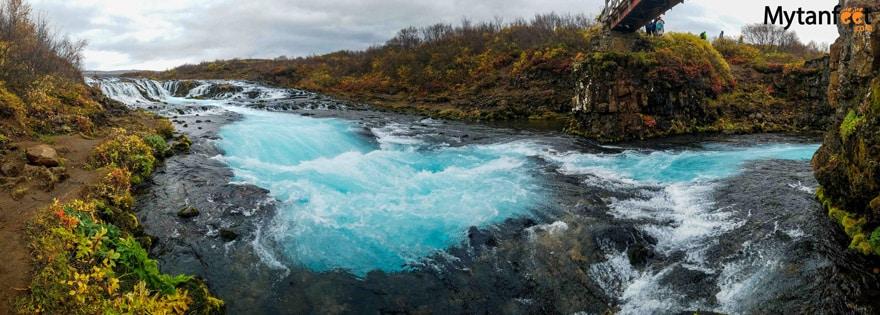 one week in iceland by camper van - Bruarfoss Waterfall