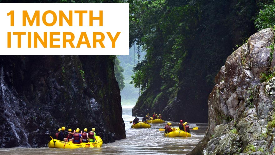 1 month costa rica itinerary