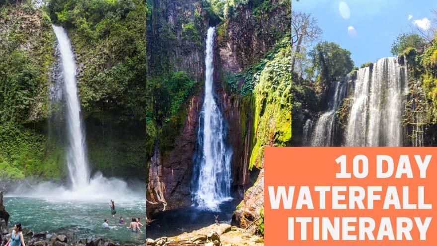 Costa Rica waterfall itinerary