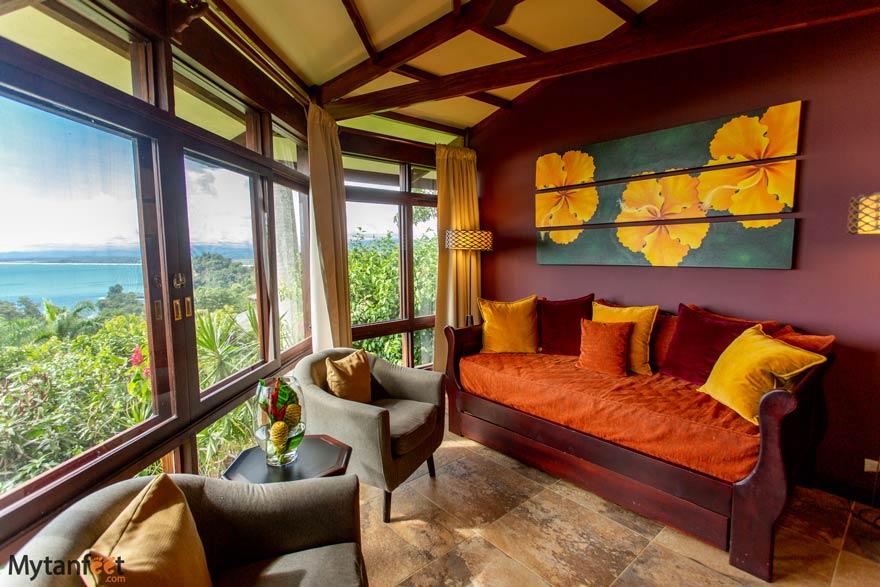 Tulemar premium bungalows sitting area