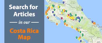 Costa Rica Destinations Map