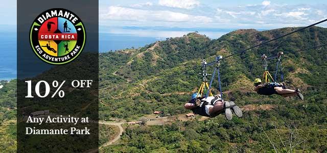 Costa Rica discounts: Diamante Eco Adventure Park Discount Code