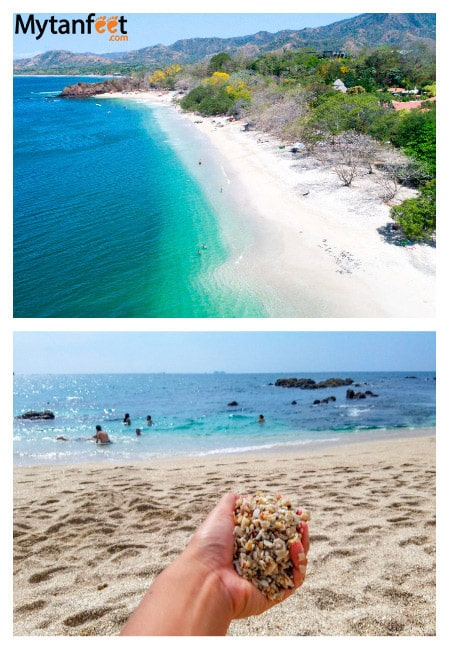 White sand beaches in Costa Rica - Playa Conchal Guanacaste