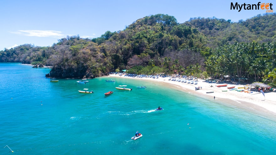 White sand beaches in Costa Rica - Tortuga Island