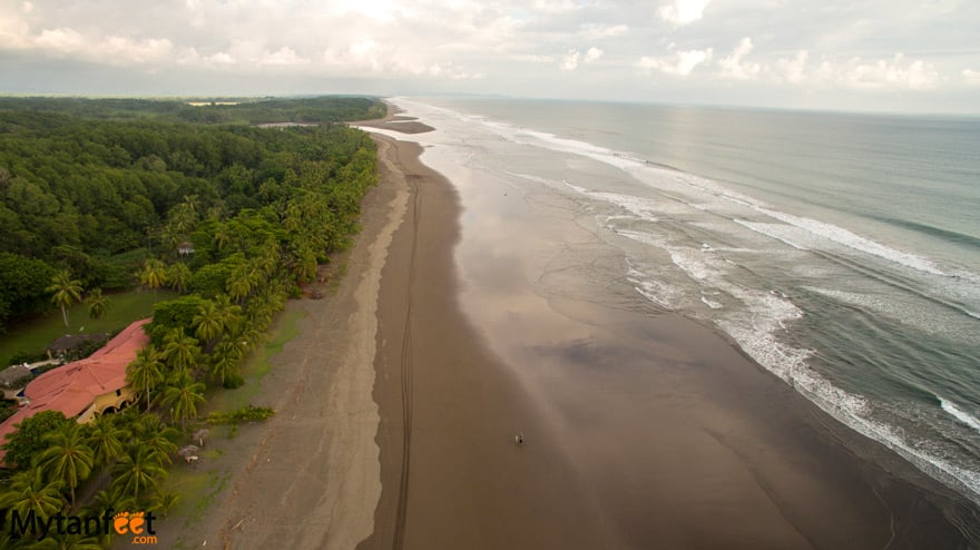 black sand beaches in Costa Rica - Playa Bejuco