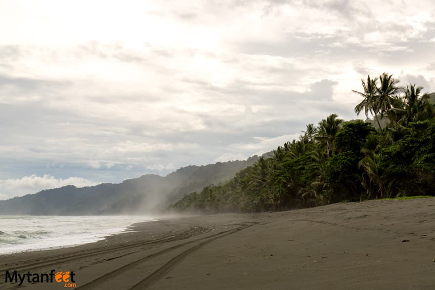 black sand beaches in Costa Rica - Playa Carate