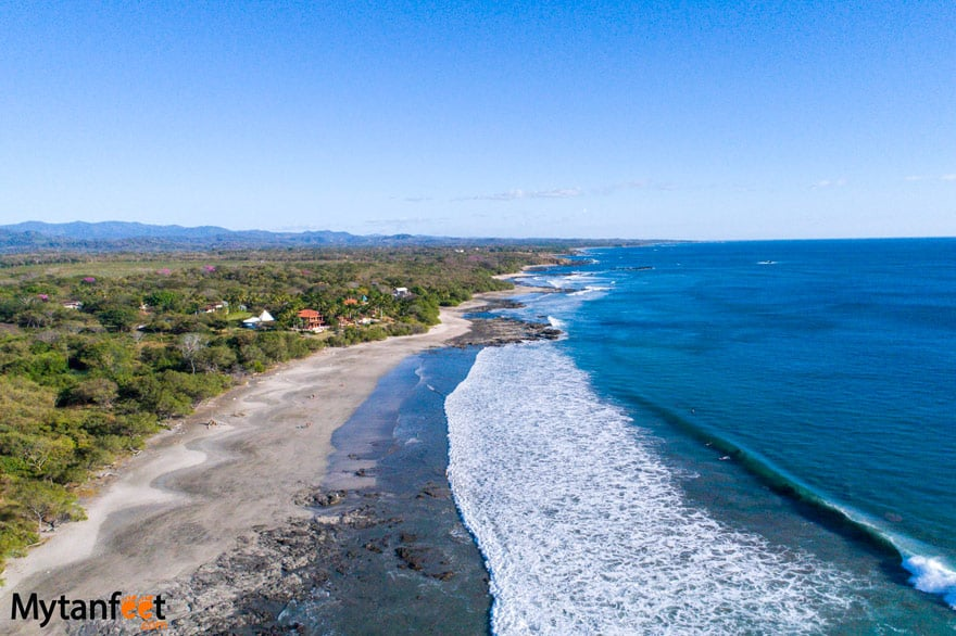 black sand beaches in Costa Rica - Playa Negra Guanacaste
