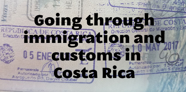 immigration and customs in Costa Rica SJO and LIR AIrport featured