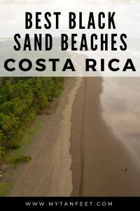 Black sand beaches in Costa Rica