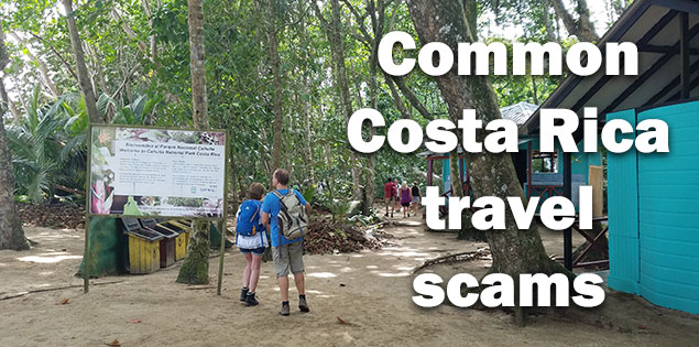 Costa Rica tourist scams featured