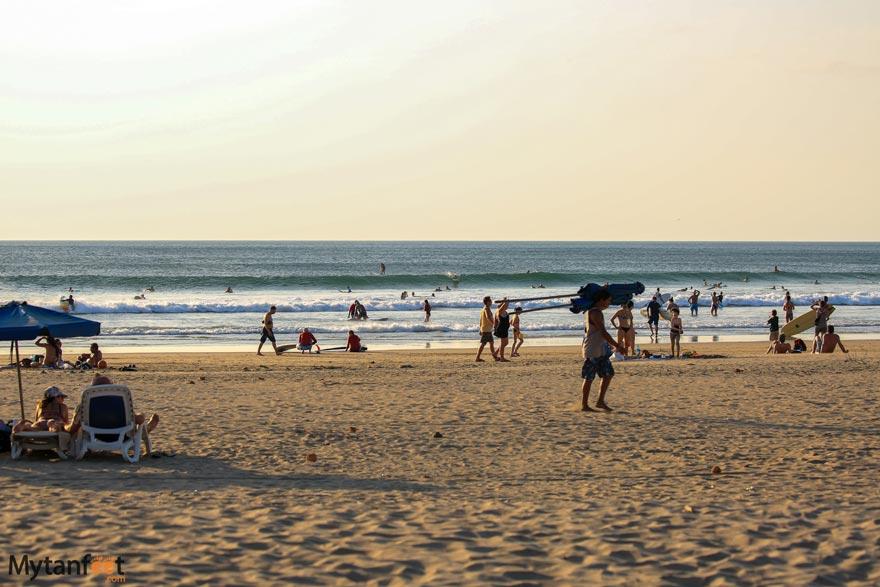 Tamarindo beach surfing