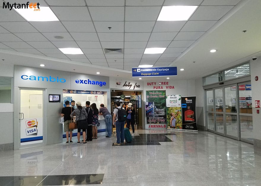 Liberia Airport money exchange and duty free