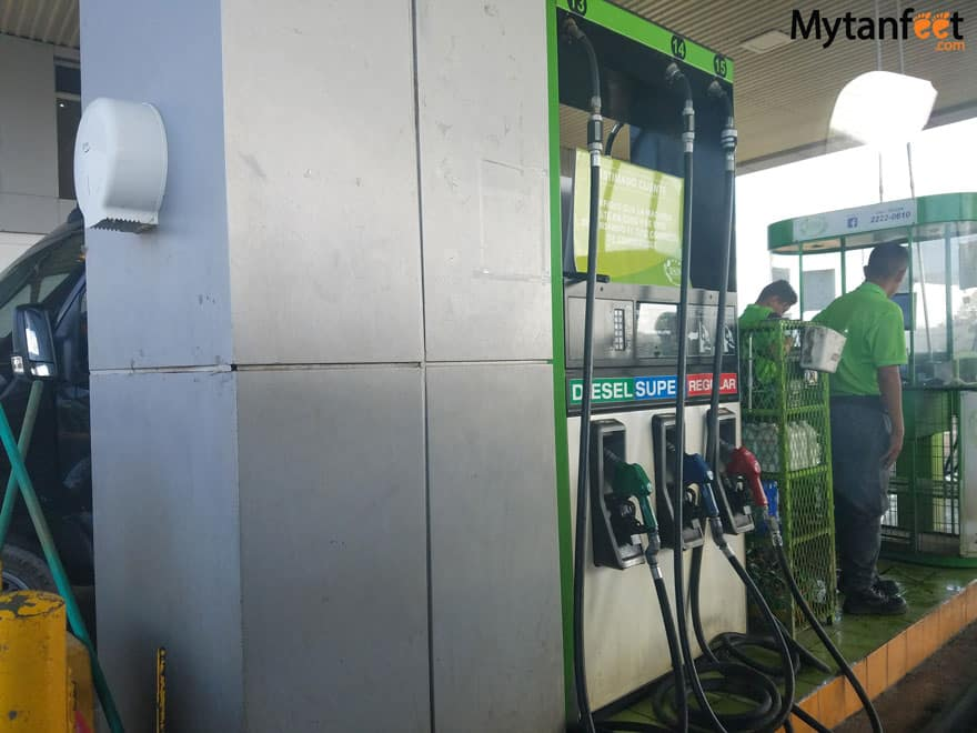 How to get gas in Costa Rica - Costa Rica gas stations