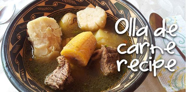 Olla de carne recipe featured