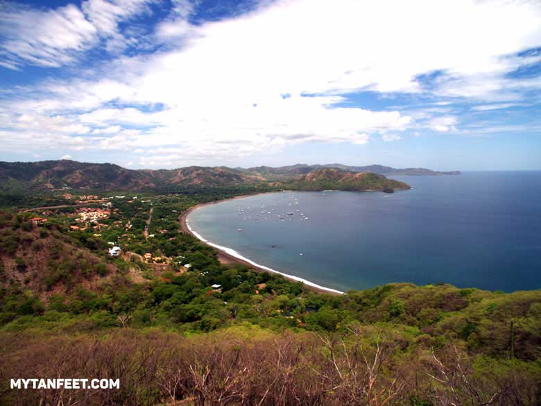 Playas del Coco view from a hill