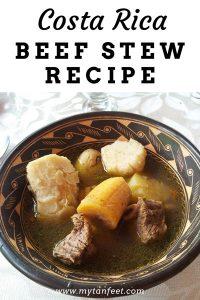 olla de carne recipe Costa rica beef stew