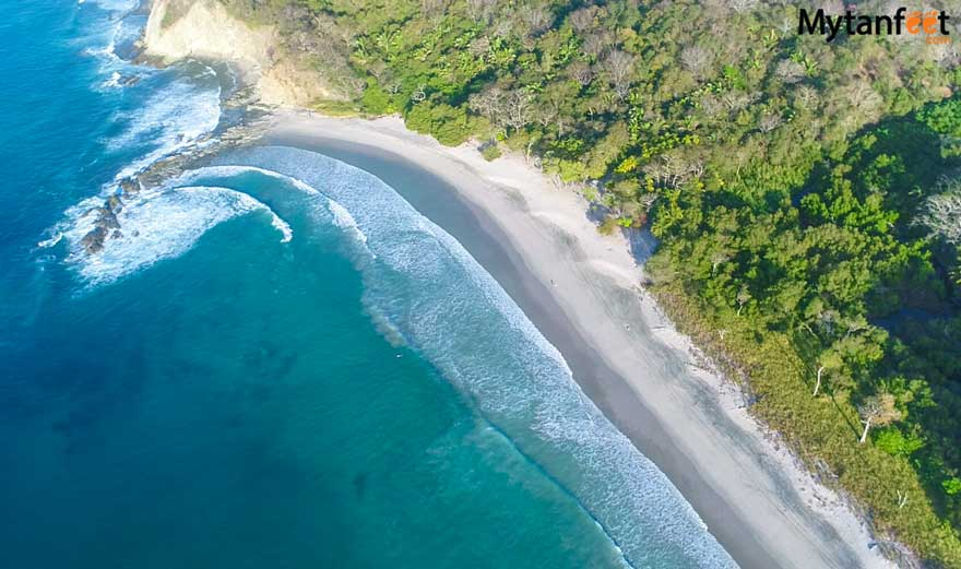 Playa Barrigona Costa Rica aerial photo