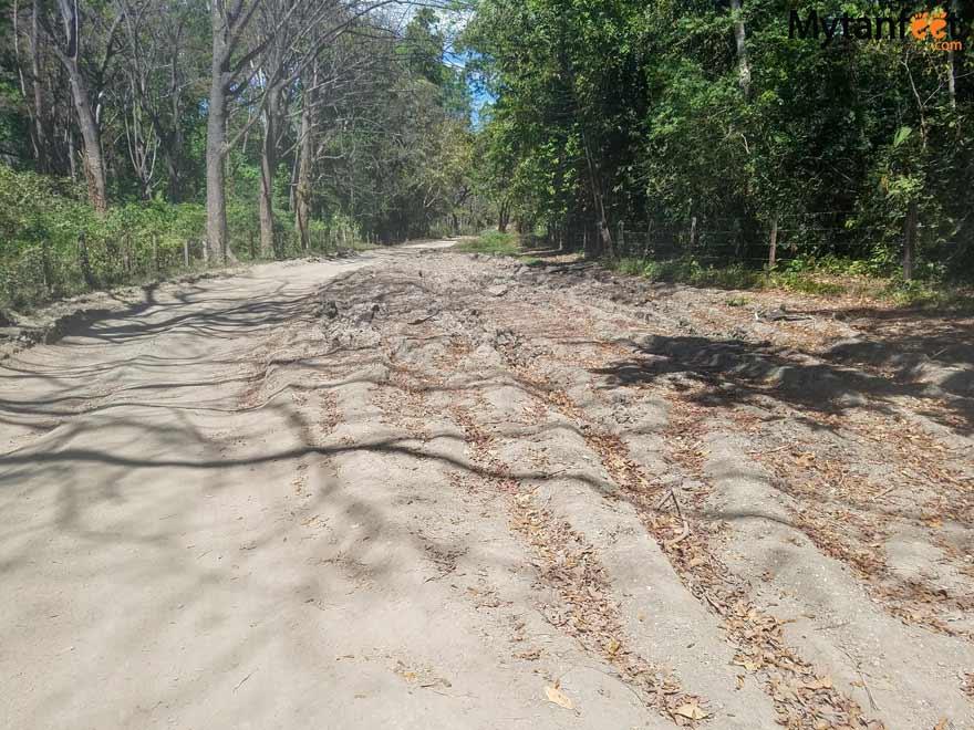Playa Barrigona Costa Rica road