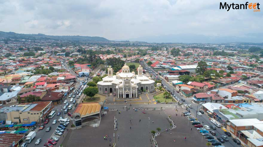 Cartago, Costa Rica. Downtown and church