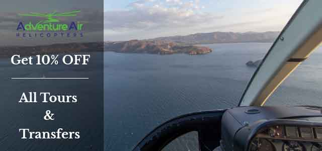Scenic helicopter tours from Guanacaste