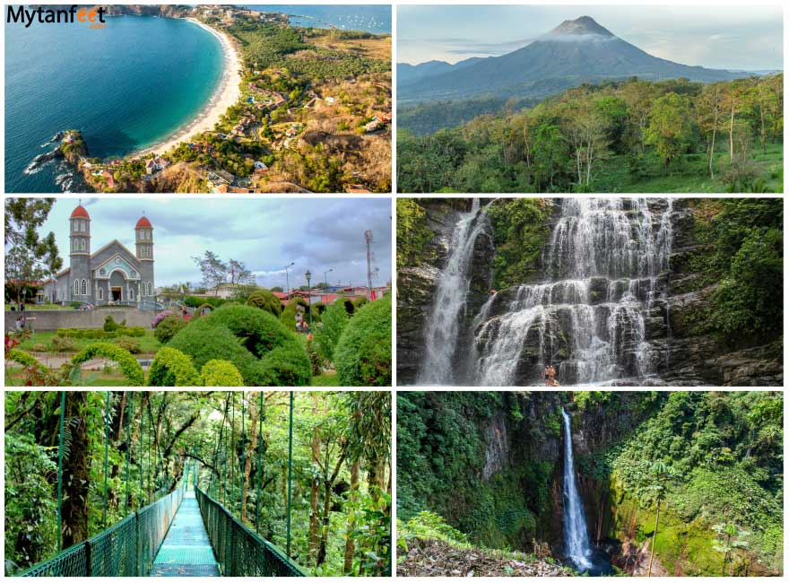 Beautiful destinations in Costa Rica