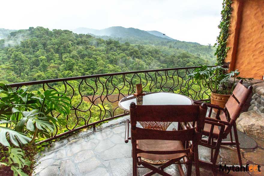 Peace Lodge balcony
