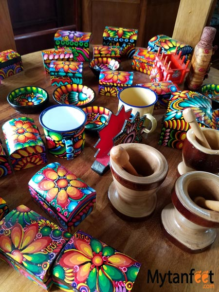 Costa RIcan souvenirs - painted wooden items