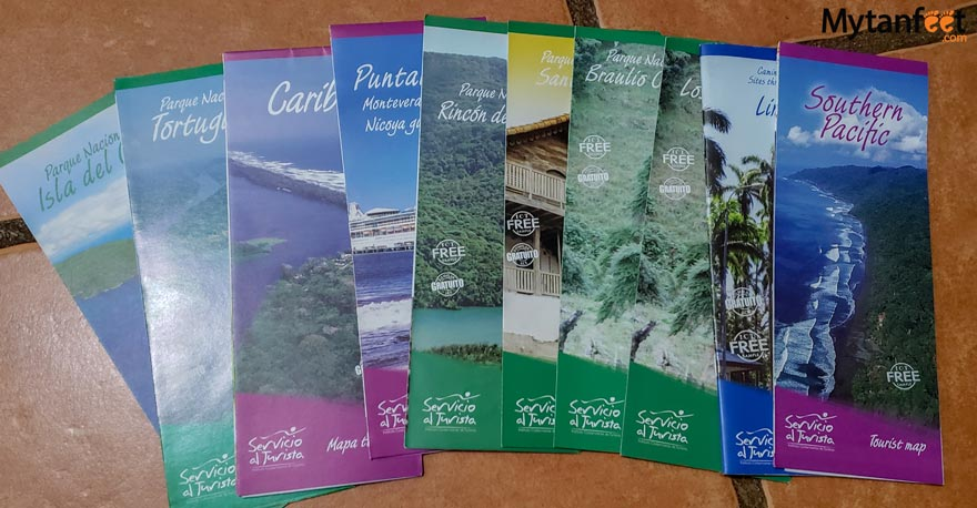 Costa Rica maps and brochures